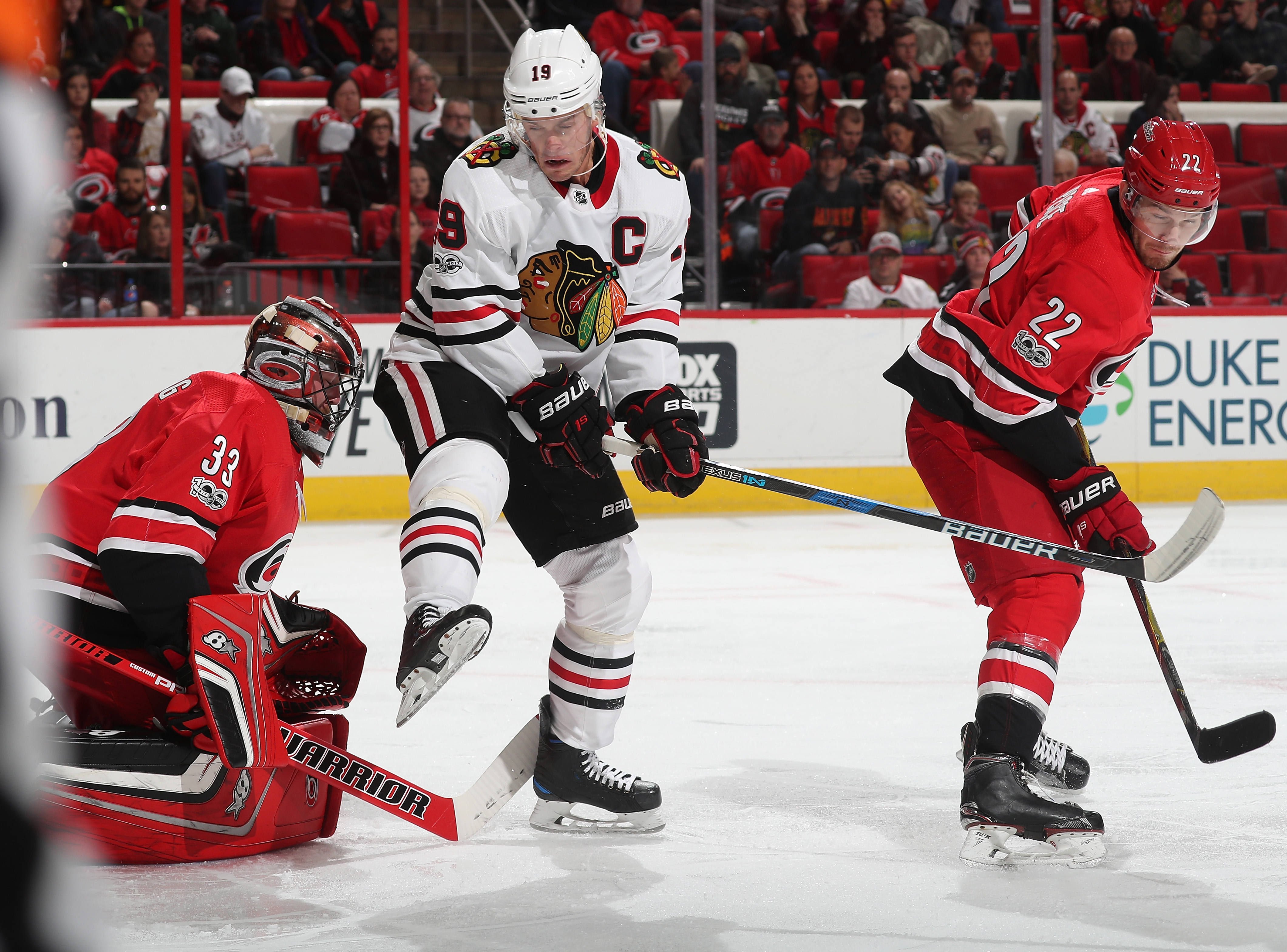 Blackhawks trail Hurricanes 2-0 after first period