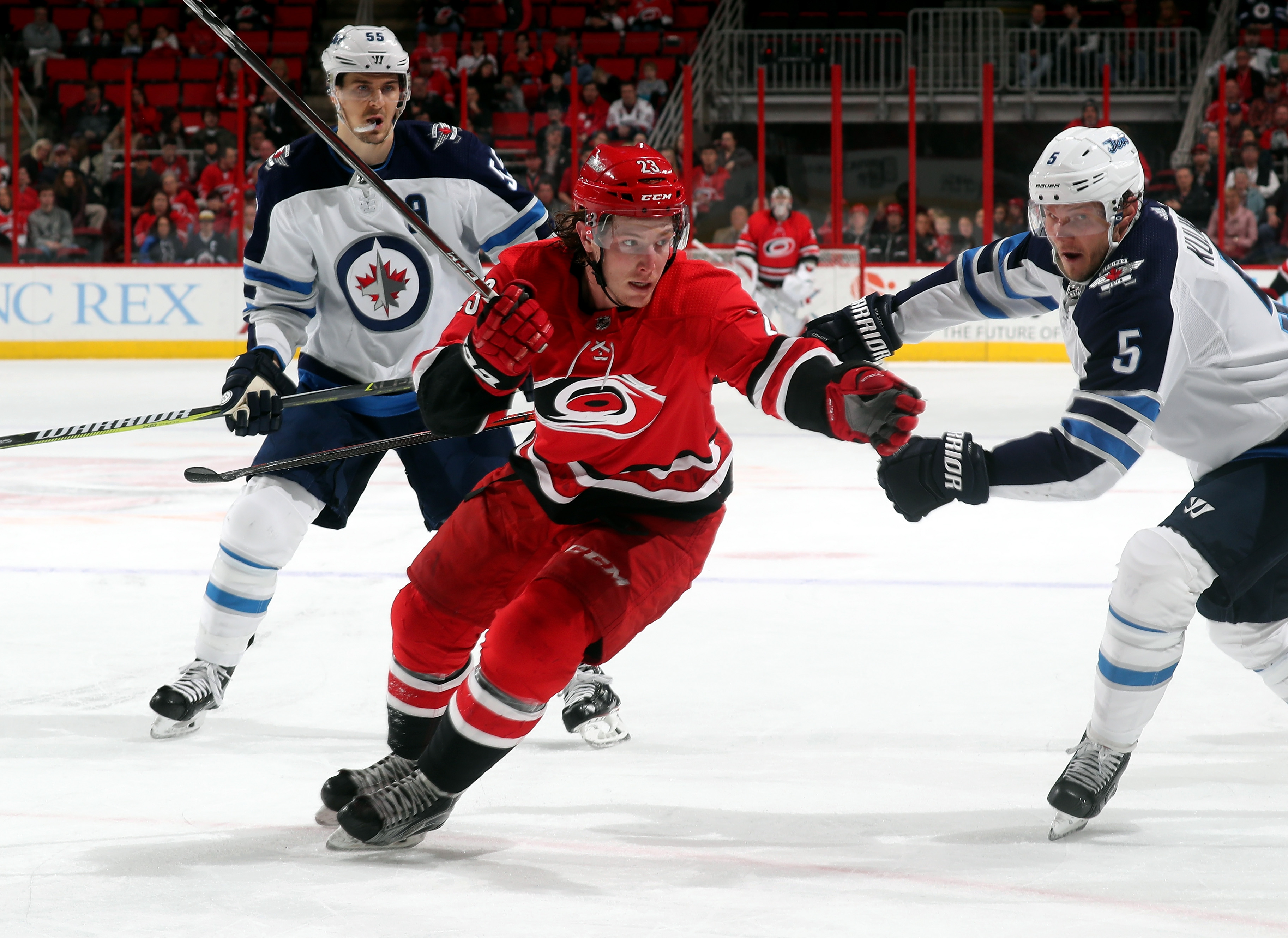Patrik Laine strikes twice as Jets blow past Hurricanes